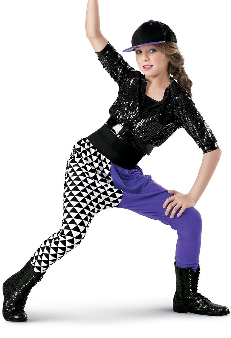 weissman™  sequin jacket with print harem pants  dance