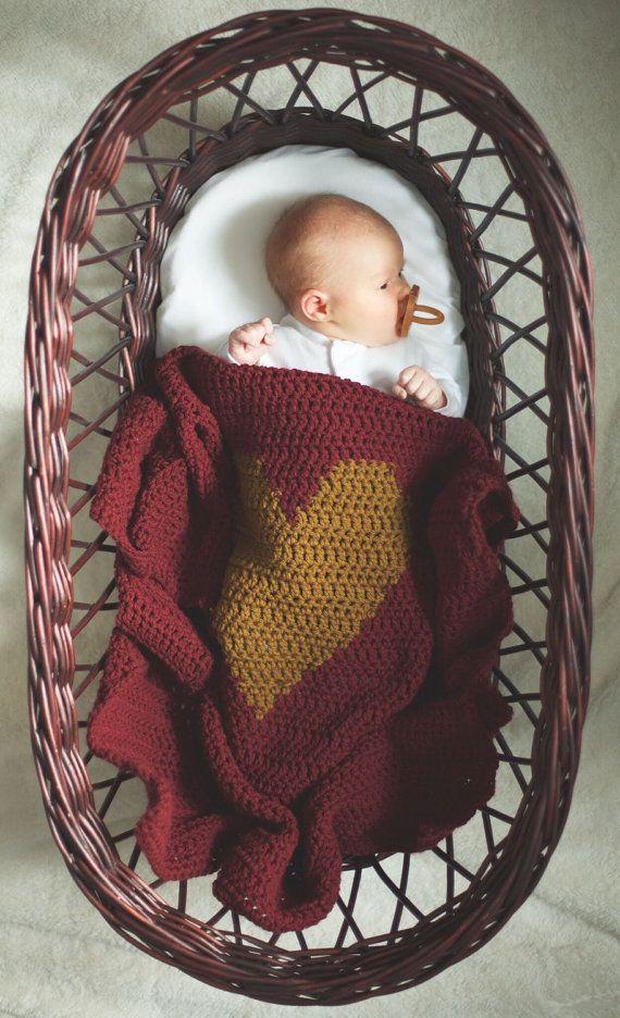 Heart Crochet Blanket//Custom// look under item by JackandJulie