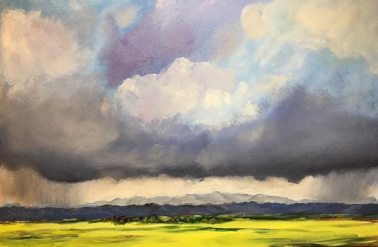 """Rain and canola"" (Overberg, South Africa)"