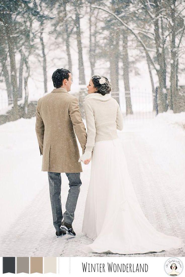 Winter Wonderland - Neutral winter wedding colour palette