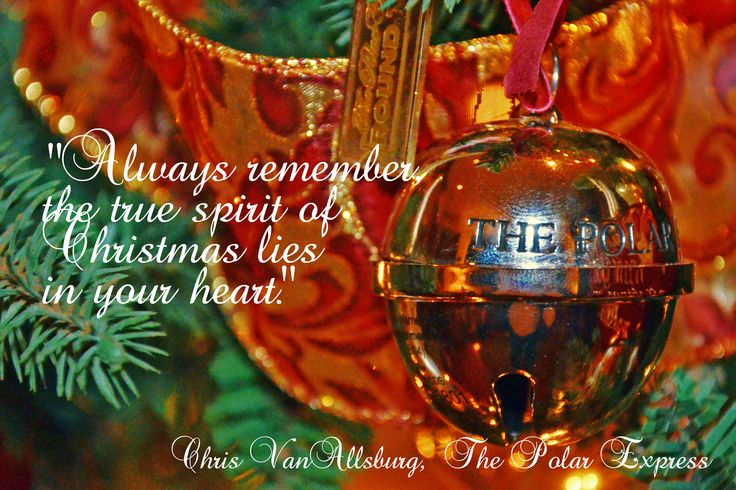 From the awesome film The Polar Express.