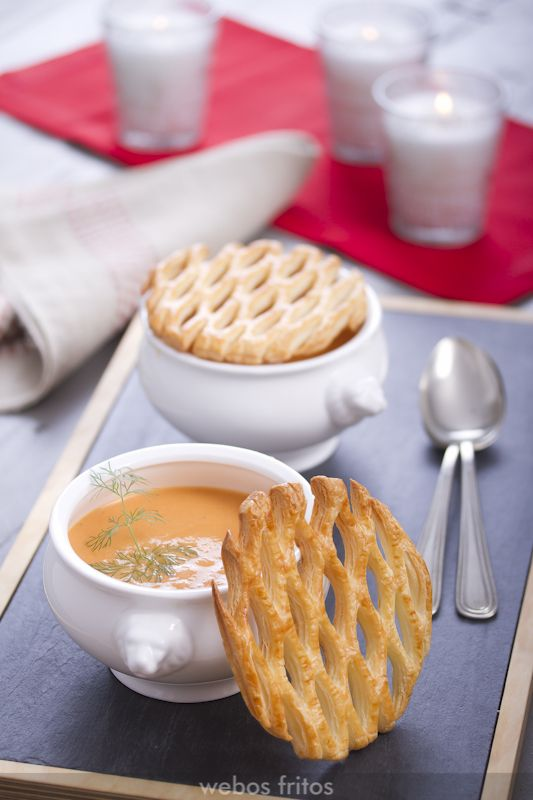Crema de langostinos | webos fritos