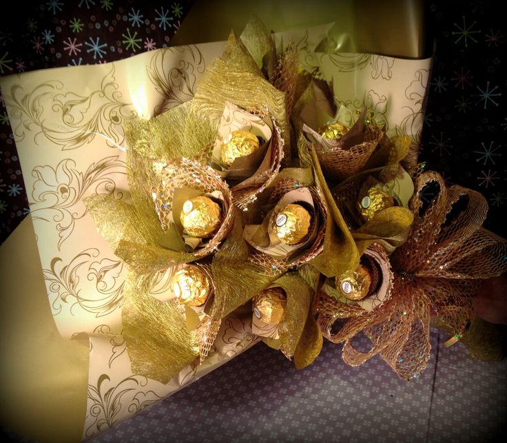how to make ferrero rocher chocolate bouquet