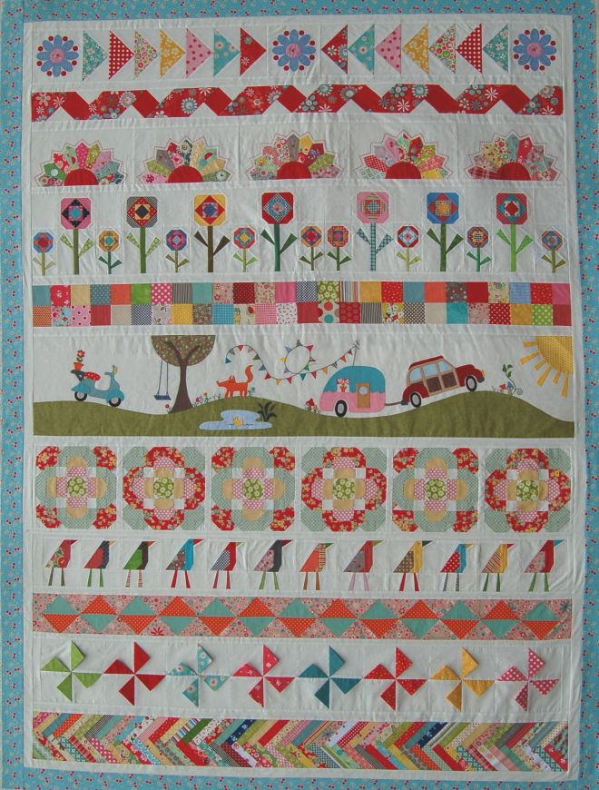The Piper's Girls Row by Row Quilt