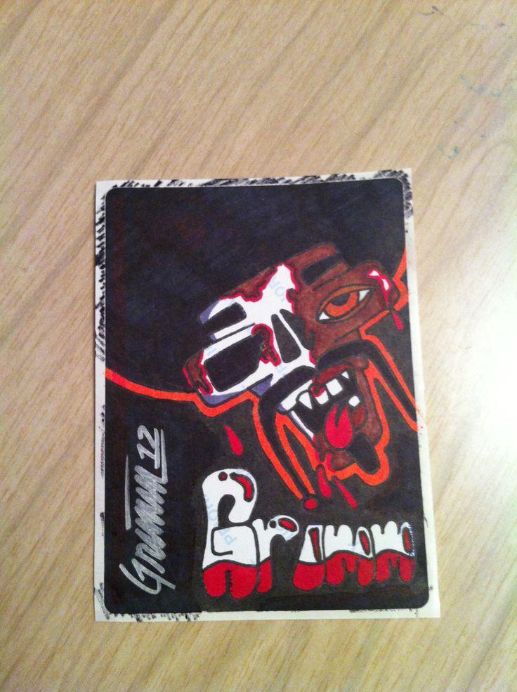 Zombie drawing artist art slaps stickers labels slaptag