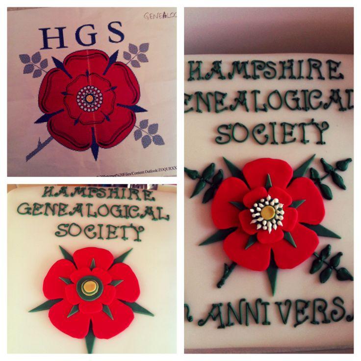 Hampshire Genealogical Society 40 th anniversary cake