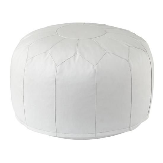 faux leather white pouf cushions floor cushions and leather pouf. Black Bedroom Furniture Sets. Home Design Ideas