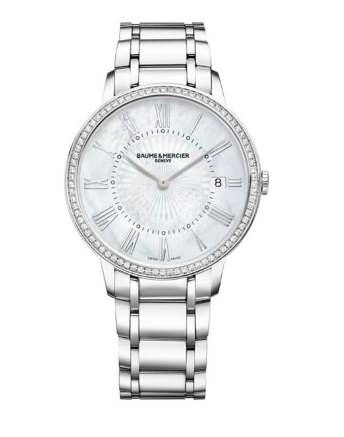 Model:Classima Lady Quartz Ref. M0A10227 Movement:Quartz Gender:Female Complications:Date, Minute Hand, Hour Hand Shape:Round Case Material:Stainless Steel Dail colour:Mother of Pearl Size:36.50 mm Material:Stainless Steel Price:€ 4 450 @colmanwatches
