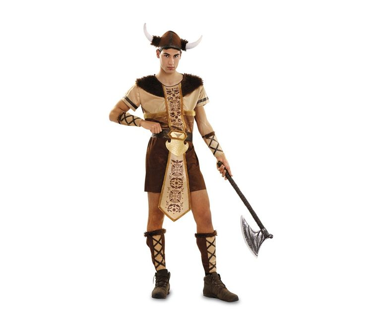 DisfracesMimo, disfraz de vikingo lujo para hombre adulto talla m/l. Compra tu disfraz barato adulto para tu grupo. Este traje es ideal para tus fiestas temáticas de barbaros y vikingos guerreros.