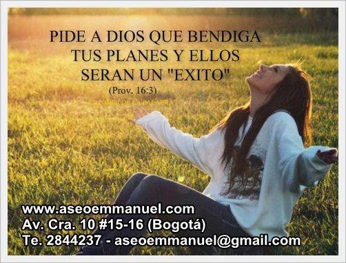 Tus planes en manos de Dios