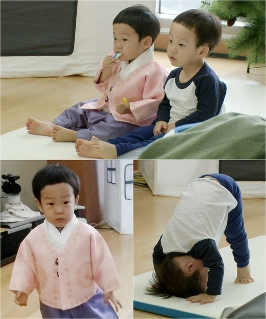 """Twins Seo Eon and Seo Joon of """"Superman Returns"""" are adorable in preview stills for the upcoming episode as they practice the Korean tradition of bowing to elders for the New Year.The practice of bowing to parents and elders is observed by Koreans for major holidays such as New Year's Day an..."""