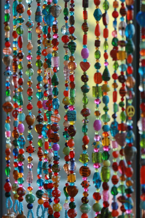 Beaded curtain-bohemian decor-rainbow color beaded door - 224 Best Beaded Curtains Images On Pinterest Beaded Curtains