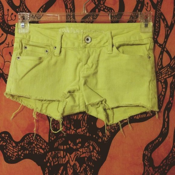 LAST CHANCE Pacsun Hermosa Super Skinny Shorts. •Color is like neon yellow •No flaws •Brand new •Excellent condition •No trades PRICE FIRM. Bullhead Shorts Jean Shorts