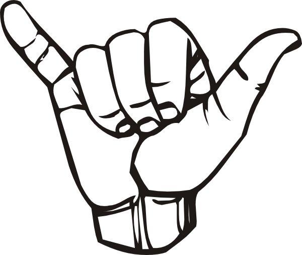 Hang Loose Hand Sign