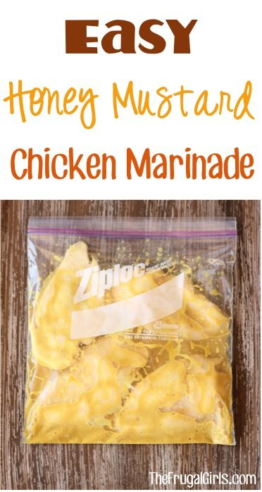Honey Mustard Chicken Marinade Recipe! ~ from TheFrugalGirls.com ~ if you're on the hunt for an easy and delicious marinated chicken, this one couldn't be simpler and is packed with flavor! #marinades #recipes #thefrugalgirls