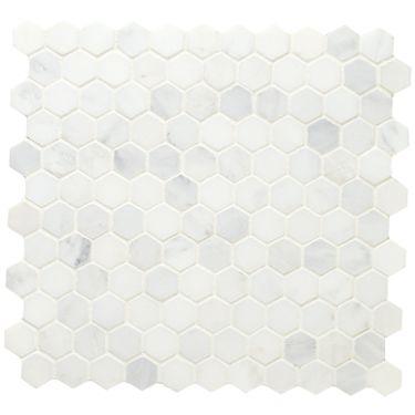 Hexagonal Mosaic, Honed - East Hampton Marble - Wall & Floor Tiles   Fired Earth