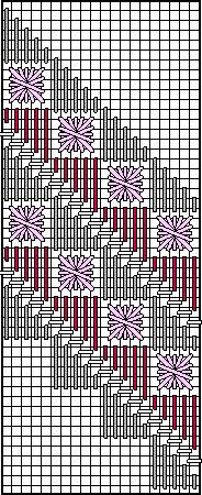 diagonal border