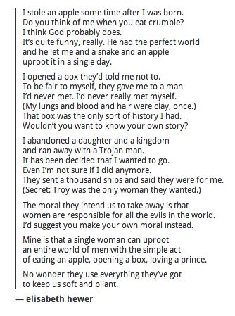 Eve, Pandora, Helen of troy