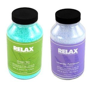 Green Tea & Lavender Palmarosa Spa Accessory Aromatherapy Crystals -22 Oz- All Natural Hot Tub Fragrance for Soaking Aches & Pains by N MARKET. $98.90. Product DescriptionRelax Spa & Bath crystals will enhance any spa or bath experience. Whether it is romance, peace of mind or well-being that you are seeking, Relax Spa & Bath crystals help set the mood, arouse emotions, and relax your state of mind. Simply add the desired dosage of our naturally colorful and full of frag...