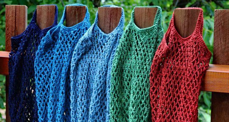 Häkelnetze als Alternativen zum Verpackungswahn- Altbewährte Häkelnetze für … – Ursula Traurwein