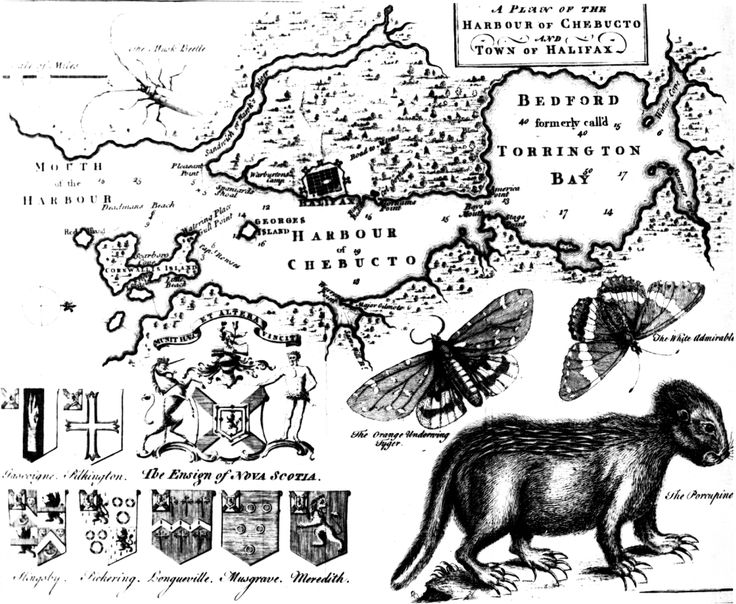 Early Map of Halifax, by Moses Harris,  1749