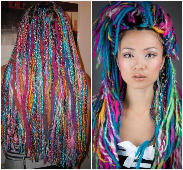 green yarn dreads - Google Search