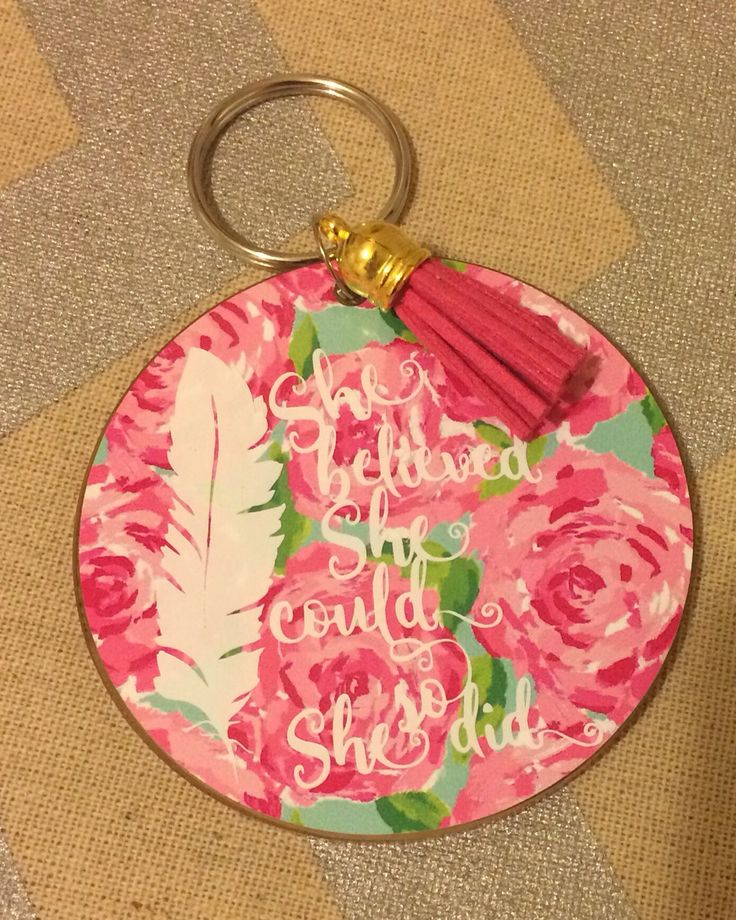 3 Quot Acrylic Keychain With Decal By Dena Mayfield The