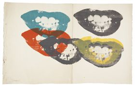 "Andy Warhol, ""I Love Your Kiss Forever"", NY, 5th March 2013, US$90,000"