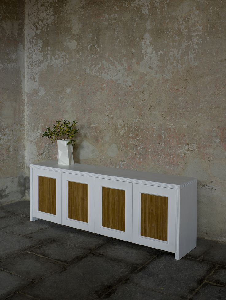 Sideboard base tv bamboo panel