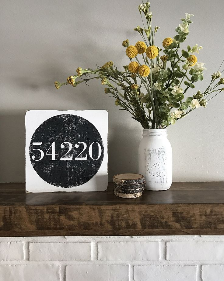 Personalized Zip Code Sign//Hand Painted Wooden Sign//Farmhouse Decor//Black and White Decor//Inspirational Home Decor//Gallery Wall Decor by HouseOnOak on Etsy https://www.etsy.com/listing/500679318/personalized-zip-code-signhand-painted