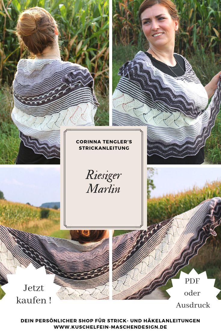 Strickanleitung Riesiger Marlin von Corinna Tengler