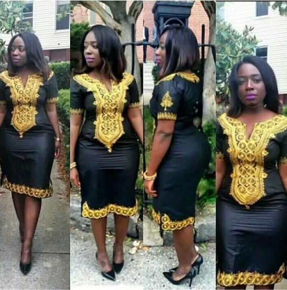 AFROKIAMA African Woman Dress by THEAFRIKANSHOP on Etsy                                                                                                                                                                                 More