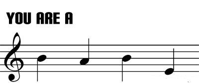 If you read music you'll know what it says, pretty cute :)