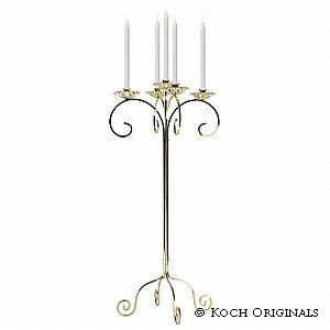 Traditional Tabletop Candelabra | Metal Candelabra | Wedding Candelabra