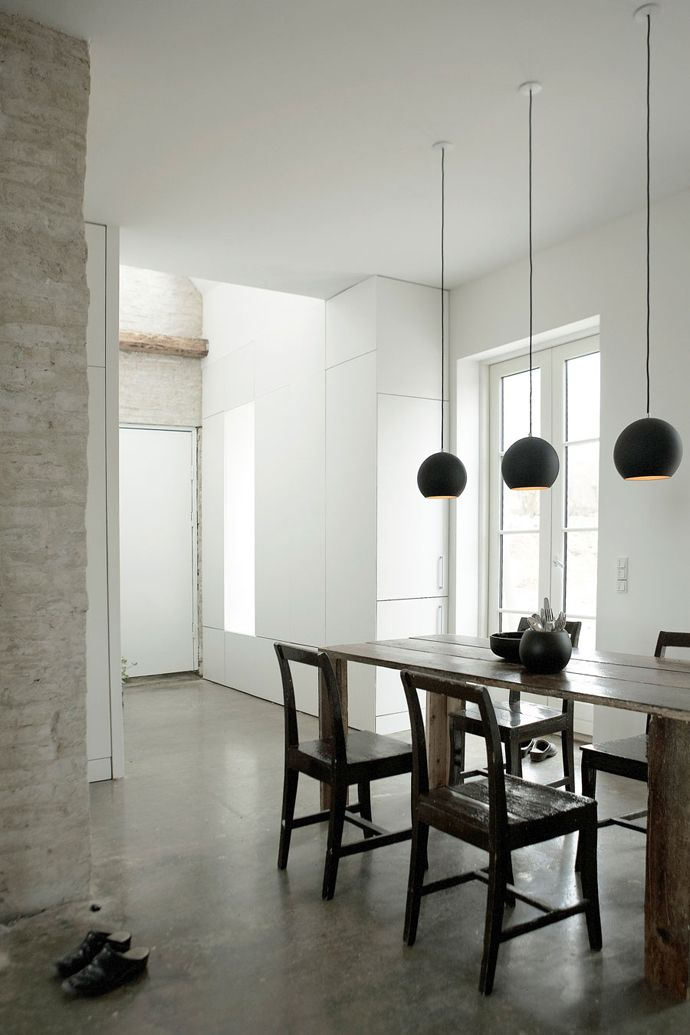 blk pendant lighting...design by norm studio