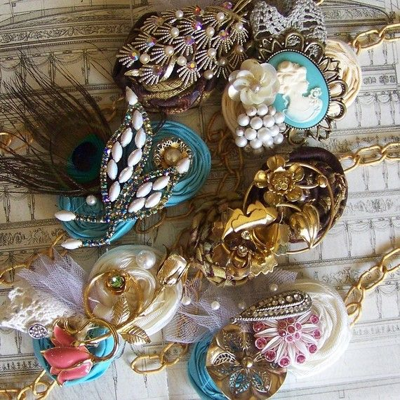 Alisa makes the prettiest things: she made my girls these wrist corsage bracelets (via Etsy).