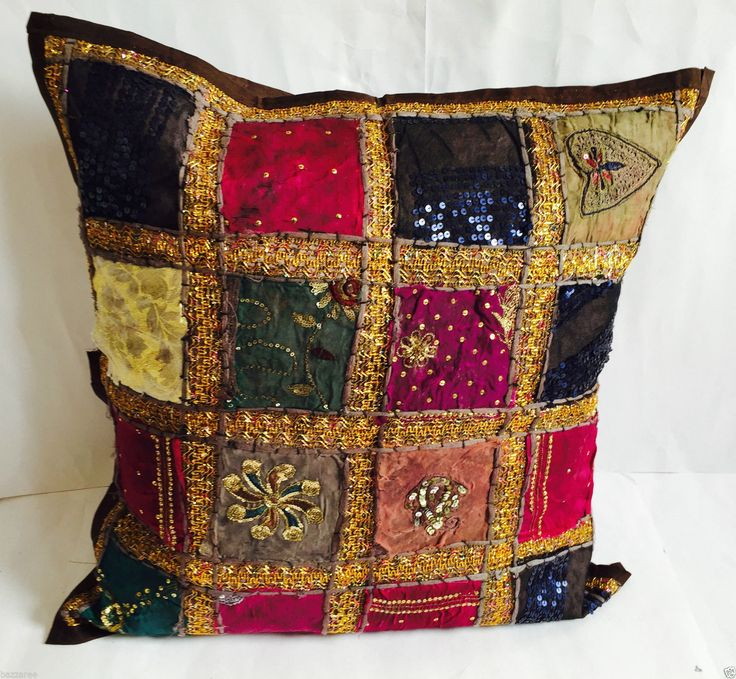 These beautiful contemporary cushion covers will look fabulous in any room. They all have a plain colour fabric reverse. These luxuriously comfortable cushion comes without the filling. All Patchwork Cushion Covers are handmade so every piece is unique in its own way. | eBay!