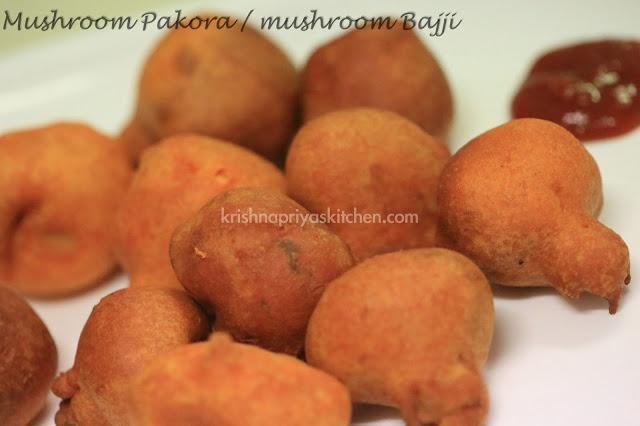 Mushroom Pakora / Mushroom Bajji