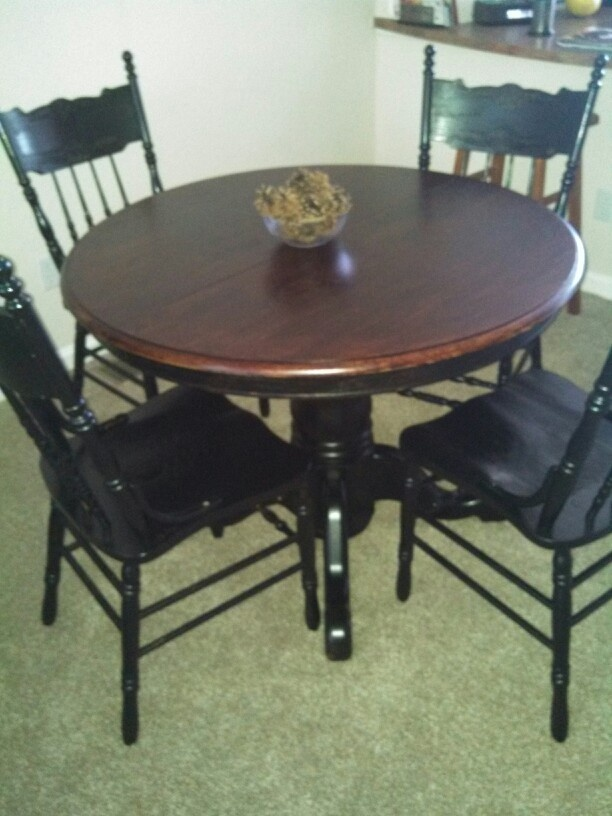 Refinished Table Home Decor Pinterest Dining Sets Project Table And Diy Cabinets