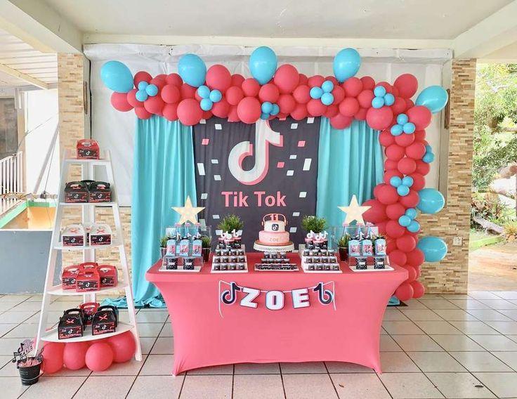 Tik Tok Birthday Nova S Tik Tok Dance Party Catch My Party Girls Birthday Party Themes Diy Birthday Party Birthday Party Activities