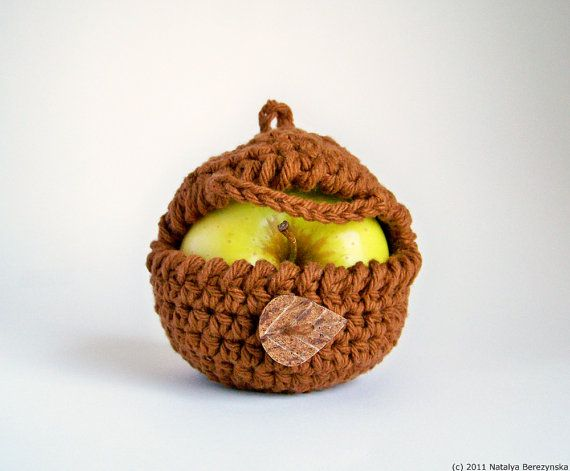 Crochet Ninja Apple Cozy Fruit Jacket Sleeve Cotton Brown Autumn Copper Spice Tea Coffee Rust Earth Nature Wood Woodland Nutmeg Forest Clove