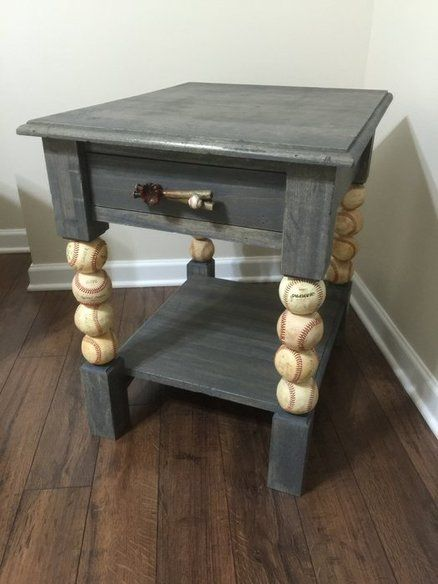 Baseball end table
