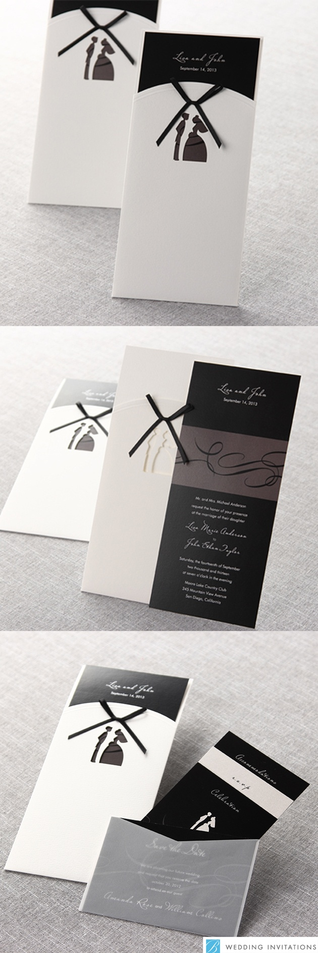 Traditional Bride and Groom by B Wedding Invitations    #weddinginvitations  #bweddinginvitations