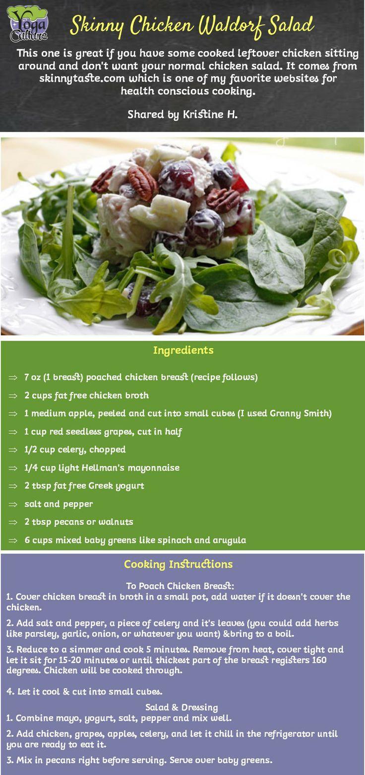 Skinny Chicken Waldorf Salad.   Yummy!   Pinterest   Waldorf Salad ...