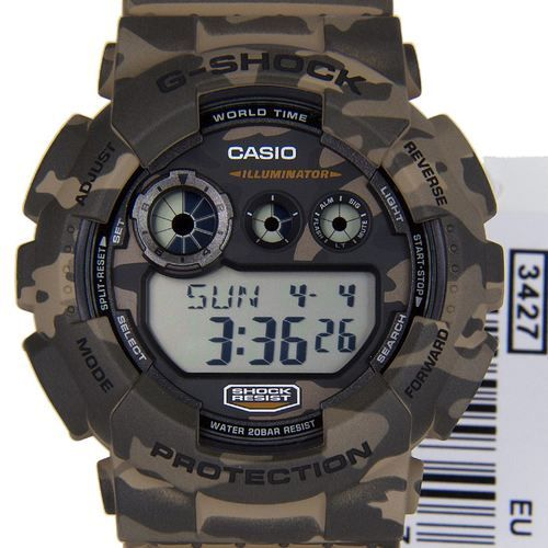 Buy Authentic Casio G-Shock Camouflage Mens Sports Watch GD-120CM-5DR GD-120CM-5D GD-120CM-5 GD-120CM Mens Gents World Time Alarm Water Resist Best Cheapest Price Fast Shipping to USA, Canada, Australia, New Zealand, Singapore, Hong Kong, Italy, France and many more!