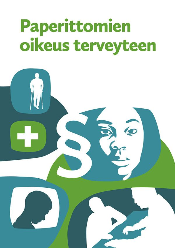 Paperittomien oikeus terveyteen -booklet by Teemu Helenius, via Behance