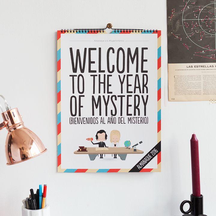¡Nuevo almanaque reversible del año del misterio a lo #Superbritánico!