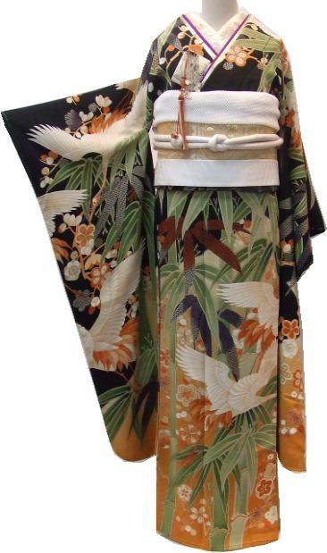 婚礼衣裳NEWコーディネート⑱竹林に飛翔鶴図吉祥文振袖 : それいゆ