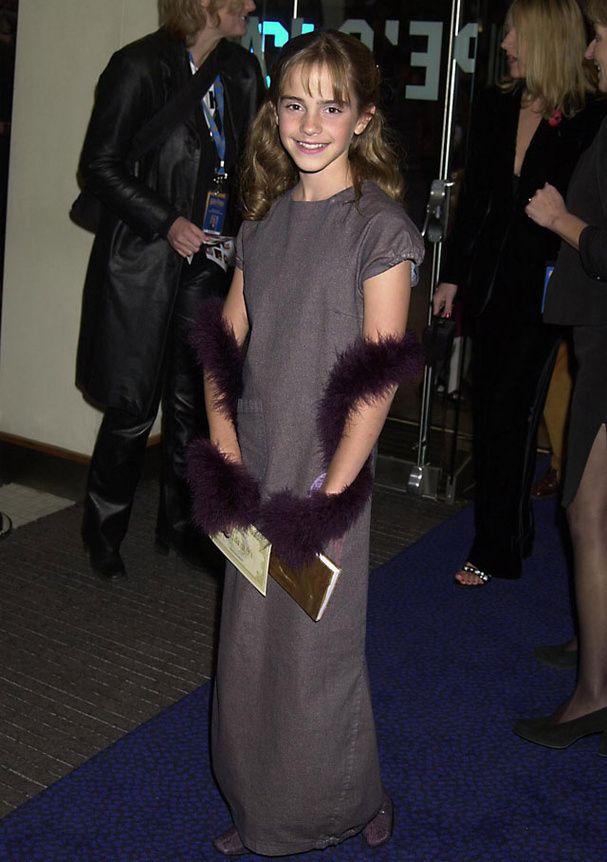 Le premier tapis rouge d'Emma Watson en 2001