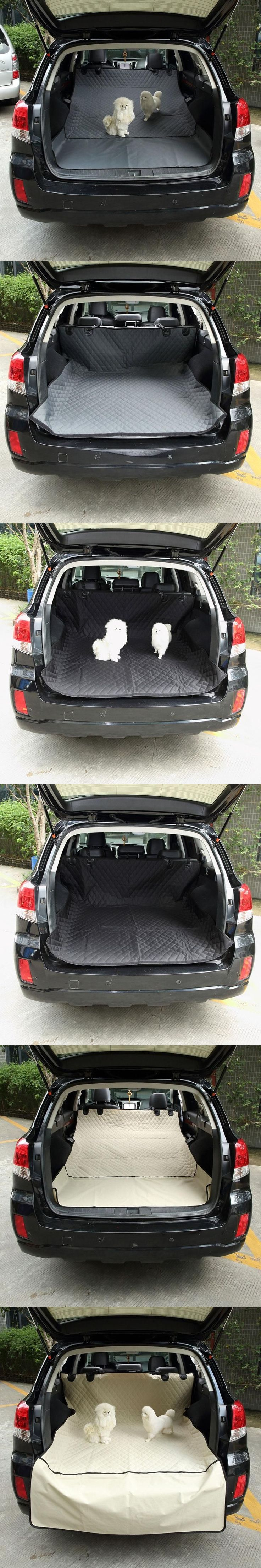 Waterproof Pet Trunk Cushion Car Seat Cover Protector Dog Car Trunk Cover Mat Pets Barrier Nonslip Dog Car Carriers